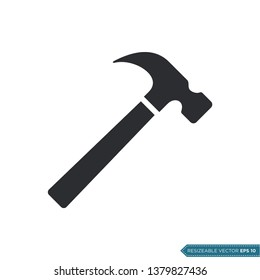 Hammer Icon Vector Template Illustration Design