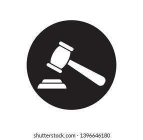 Hammer law icon vector illustration
