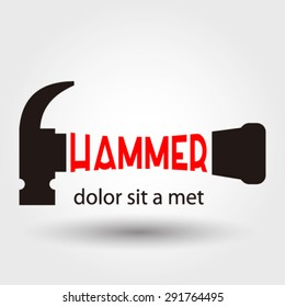 Hammer logo element innovative and creative inspiration for business company.