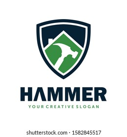 Hammer logo, Hammer vector, Construction logo, Home service logo vector