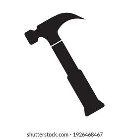 Hammer symbol, web and computer icon