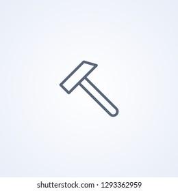 Hammer, vector best gray line icon on white background, EPS 10