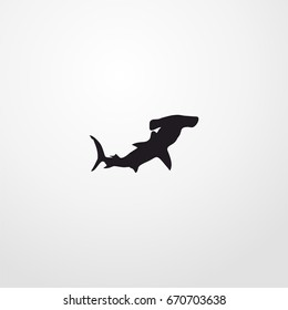 hammerhead shark icon. vector sign symbol on white background