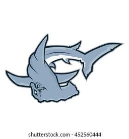 Hammerhead shark mascot