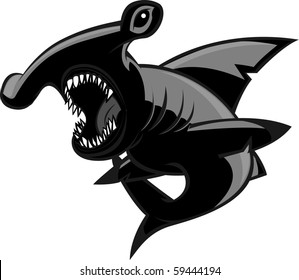 Hammerhead shark with two different color styles.