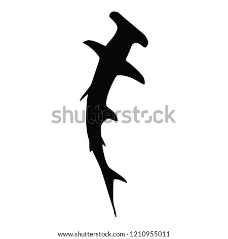 017772141bdca Hammerhead Shark Vector Stock Vector (Royalty Free) 1210955011 ...