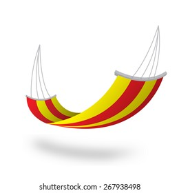 Hammock colorful yellow red