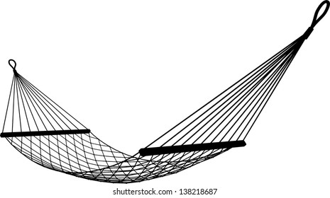 hammock on a white background