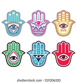 Hamsa hand, Hand of Fatima - amulet, symbol of protection from devil eye