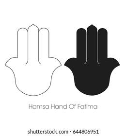 Hamsa Hand of Fatima, Template