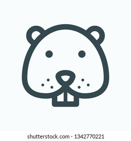 Hamster isolated icon, rodent outline vector icon