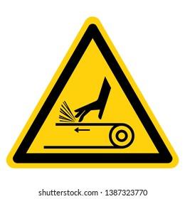 Hand Abrasion Belt Drive Symbol Sign, Vector Illustration, Isolate On White Background Label .EPS10