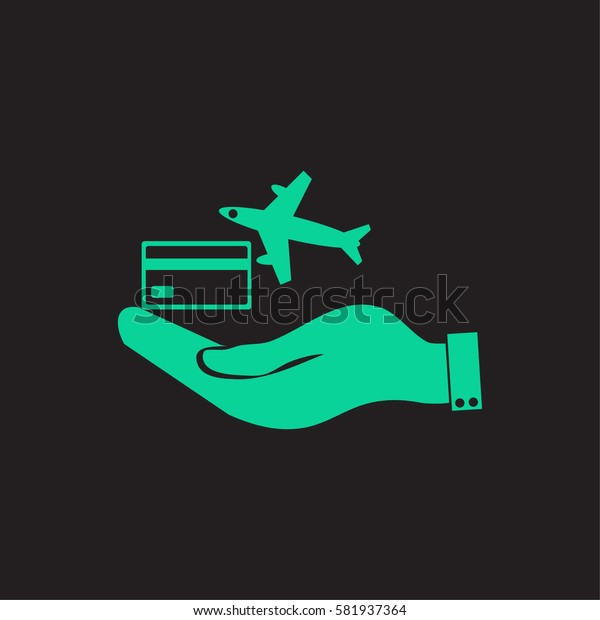 hand and airplane ticket.