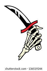hand bone hold a dagger