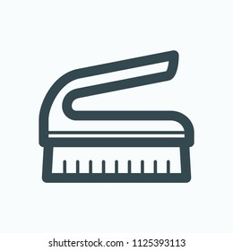 Hand brush icon, cleaning brush vector icon