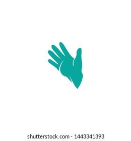 Hand care logo, adoption, network  symbols template icon