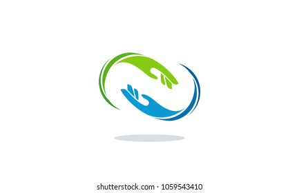 Hand Care logo designs, Teamwork Logo template designs