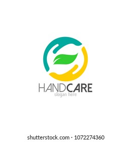 Hand care logo template icon design. Foundation vector illustration business