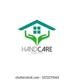 Hand care logo template icon design. Foundation vector illustration business