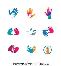 Hand care vector icon illustration