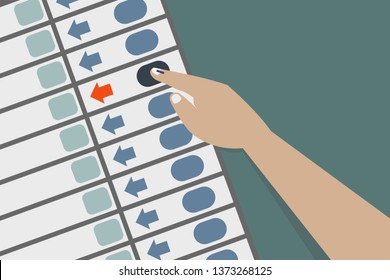 Hand casting vote in Electronic voting machine
