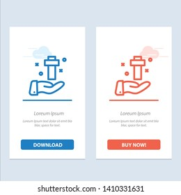 Hand, Celebration, Christian, Cross, Easter  Blue and Red Download and Buy Now web Widget Card Template