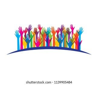 Hand celebration symbol illustration