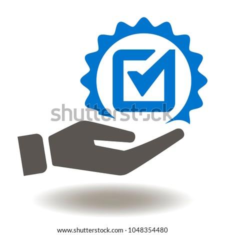 vetor stock de hand check mark icon vector hand livre de direitos
