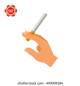 Hand with Cigarette Icon