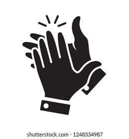 hand clapping icon in trendy flat design