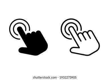 Hand click icon set. pointer icon vector. hand cursor icon vector