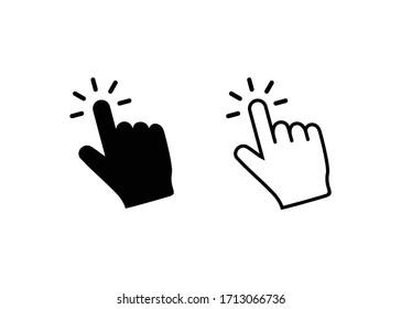 Hand click icon vector. Hand cursor icon