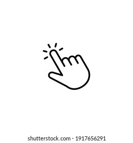 Hand click icon vector for web, computer and mobile app