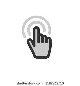 Hand clicking vector icon