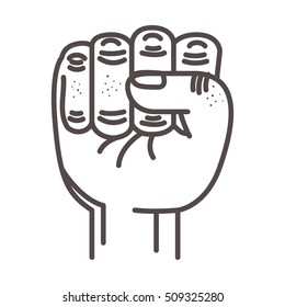 hand closed fist
