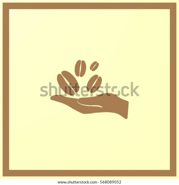 hand and coffee bean icon