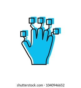 Hand controller icon. Doodle illustration of VR Hand controller vector icon for web and advertising