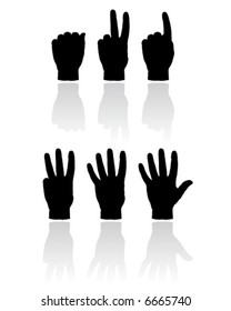 Hand count illustration