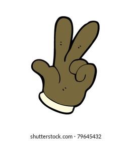 hand counting cartoon