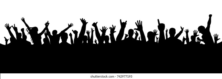 Hand crowd silhouette