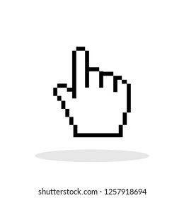 Hand cursor icon in trendy flat style. Vector Illustration EPS 10.
