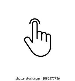 Hand cursor icon. cursor icon vector. hand cursor icon clik
