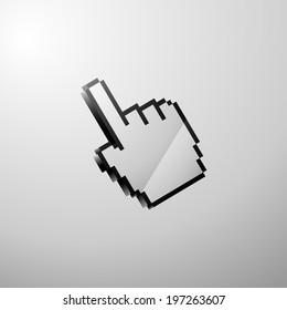 Hand cursor pixel