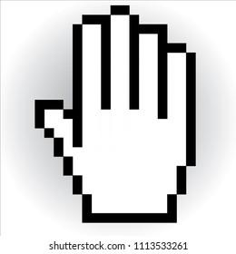 Hand cursor vector icon