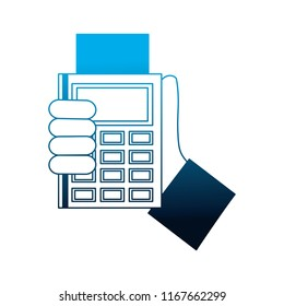 hand with dataphone payment concept