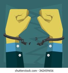 Hand decide chains handcuffs