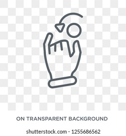 hand Dial icon. Trendy flat vector hand Dial icon on transparent background from Hands and guestures collection. High quality filled hand Dial symbol use for web and mobile