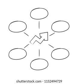 hand draew diagram template white background