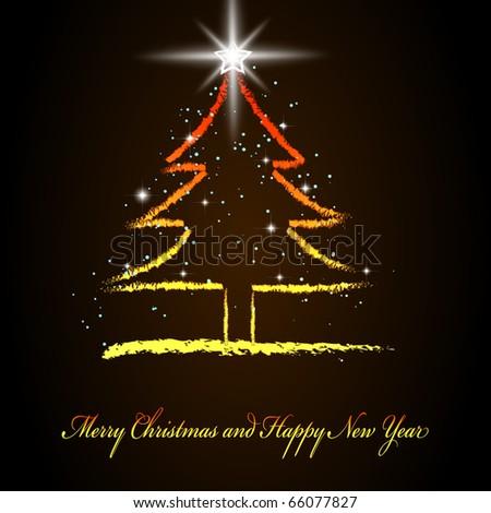 Hand Draw Christmas Tree Vector Illustration Stock Vector Royalty