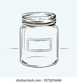Hand Draw  flower Jar